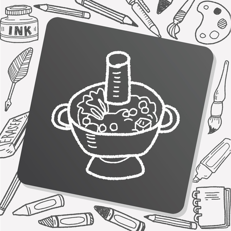 chafing dish: Chafing dish doodle