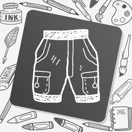 pant: short pant doodle