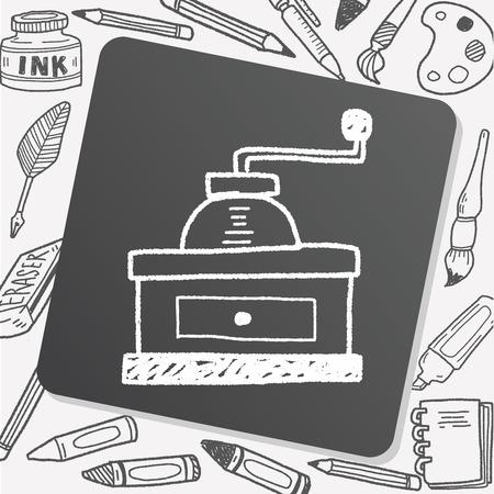grinder: coffee grinder doodle Illustration
