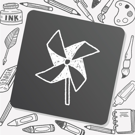 windmill toy: windmill toy doodle