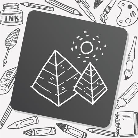 social history: doodle pyramid Illustration