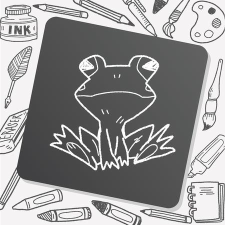 zoo amphibian: frog doodle