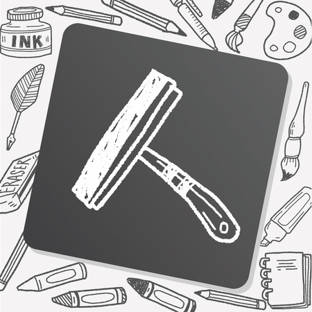 wipe: squeegee doodle Illustration