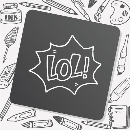 laughing out loud: lol doodle Illustration