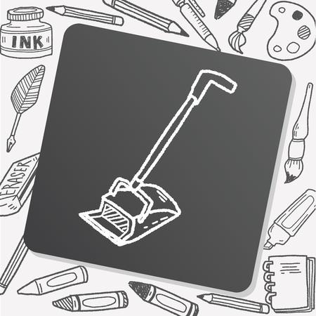 broom: broom doodle Illustration