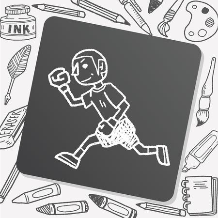 running: running doodle