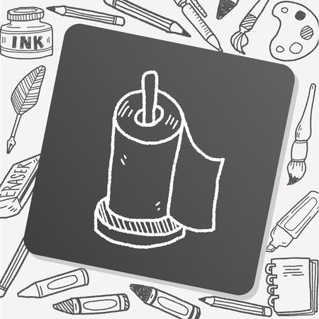 wipe: facial tissue doodle doodle Illustration