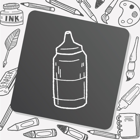 catsup: ketchup doodle Illustration