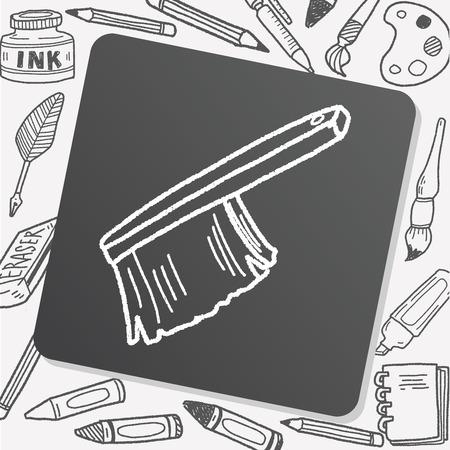 scrubbing: clean brush doodle