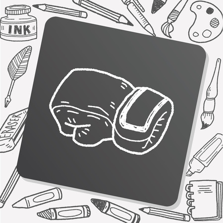 paper punch: sport glove doodle