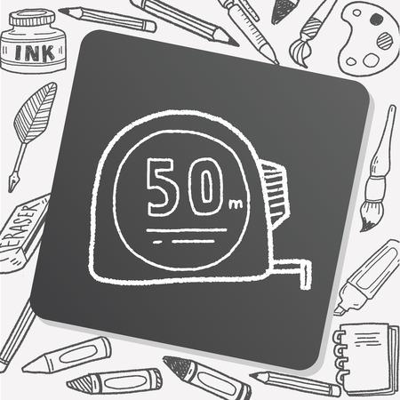 metric: ruler doodle Illustration