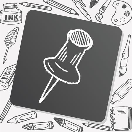doodle punaise Stock Illustratie