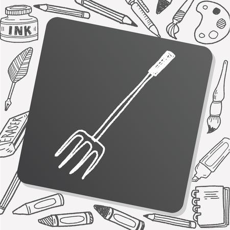bale: fork doodle