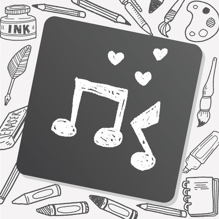 the music: music doodle Illustration