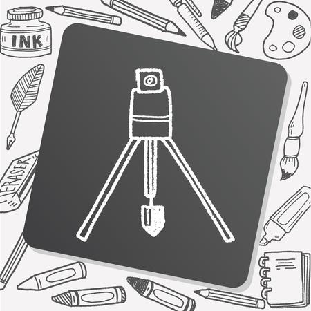 plumb: construction vertical tool doodle Illustration