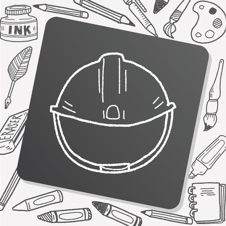 hard cap: construction hat doodle