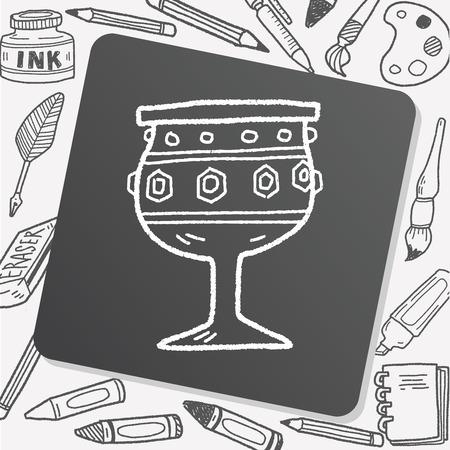 grail: grail holy doodle Illustration