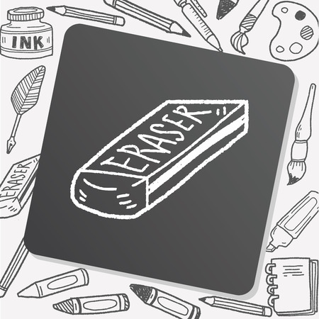 doodle gomme Vecteurs