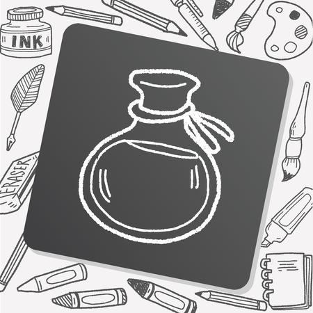 pocion: Doodle poci�n Vectores