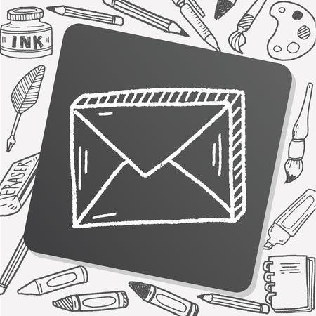 send: doodle send mail Illustration