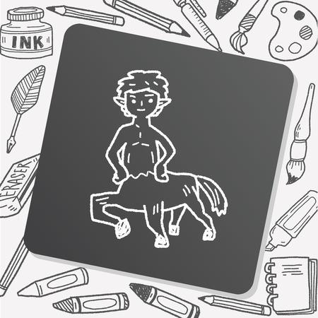 centaur: centaur doodle Illustration