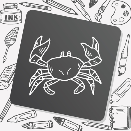 pencil drawings: Crab doodle Illustration
