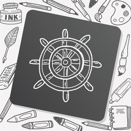 rudder doodle