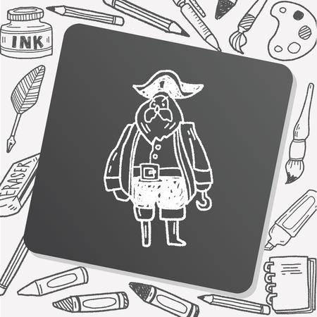 captain: pirate captain doodle