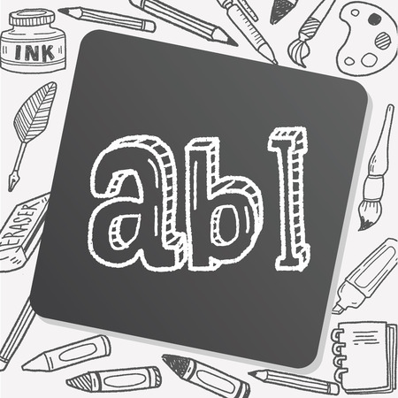 type writer: type abc doodle