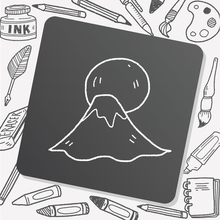 moutain: moutain sun doodle