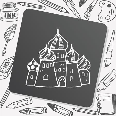 cupola: russia castle doodle
