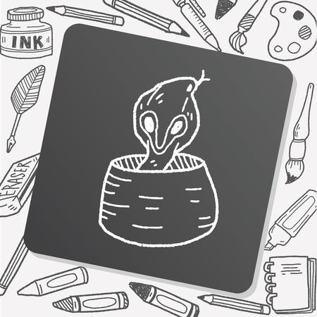 fang: cobra doodle Illustration
