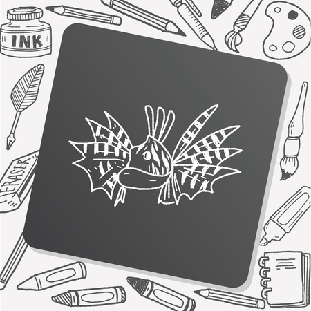 tropical: Tropical fish doodle