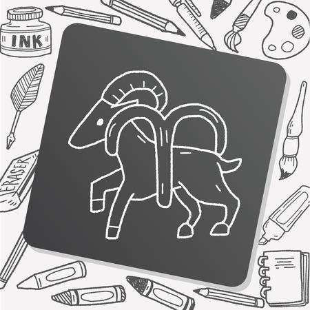 aries: aries Constellation doodle Illustration