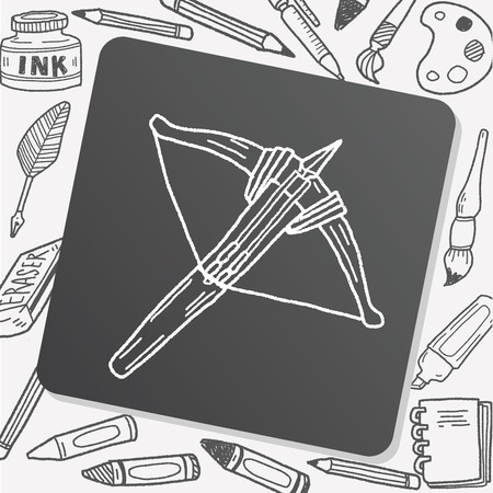 crossbow: Crossbow doodle Illustration