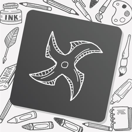 mortal: ninja weapon doodle Illustration