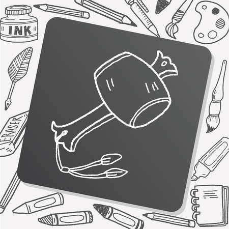 wish: wish hammer doodle