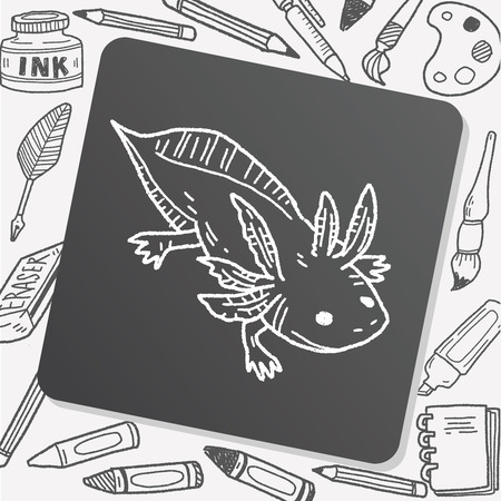salamandre: salamander doodle
