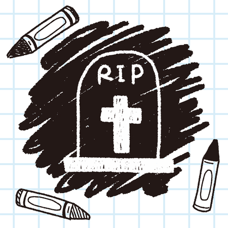 grave doodle drawing