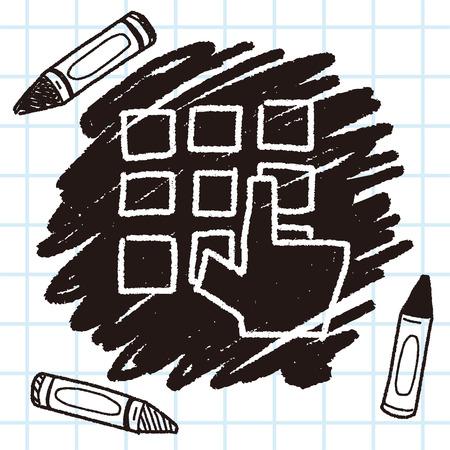 key pad: keypad doodle drawing Illustration