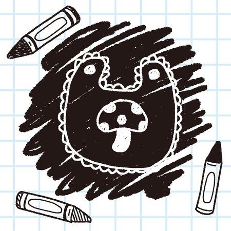 babero: bebé de dibujo del doodle babero