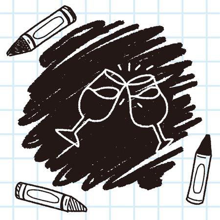 wineglass: doodle wineglass Illustration