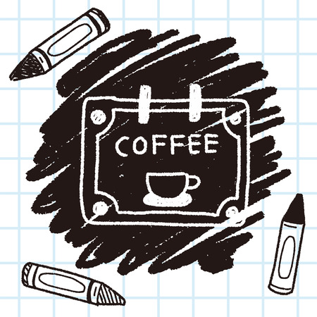 shop sign: coffee shop sign doodle drawing