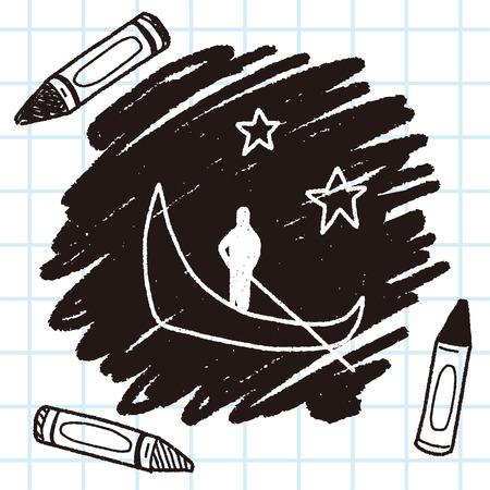 venezia: doodle venice Illustration