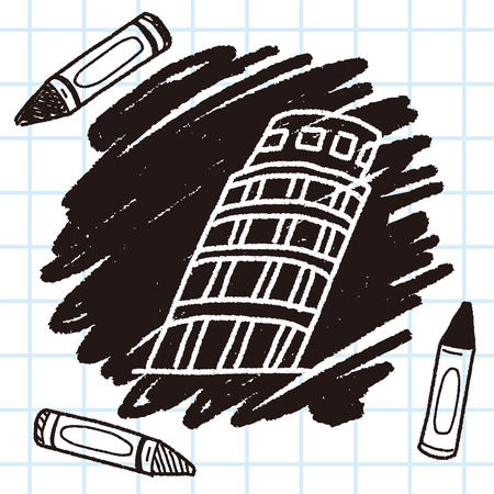 leaning tower of pisa: doodle Leaning Tower of Pisa