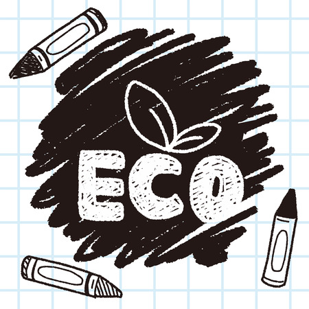 Environmental protection concept; Protect our forests and ecological plant; doodle
