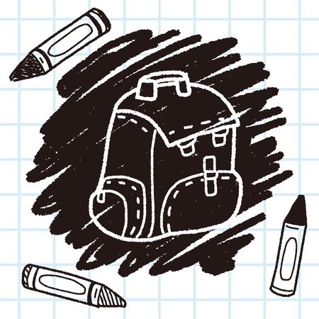 doodle School bag Illustration
