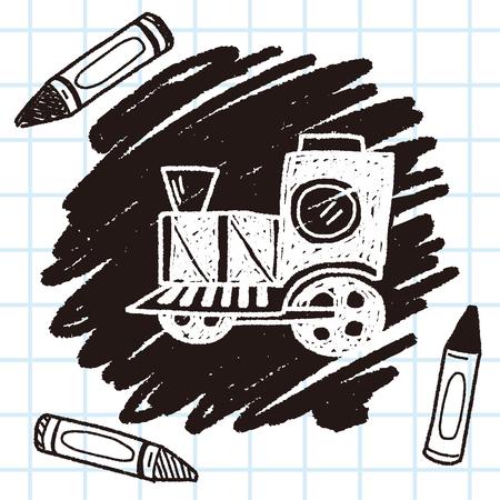 Doodle Train Illustration