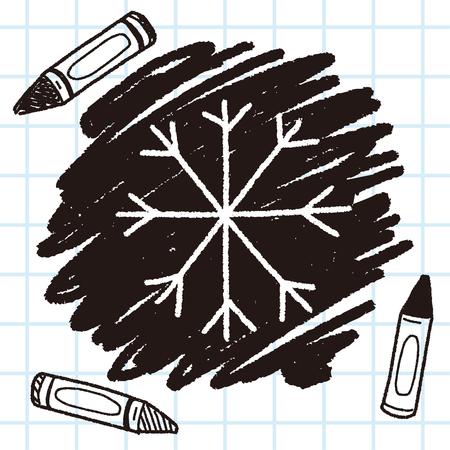snow flower doodle