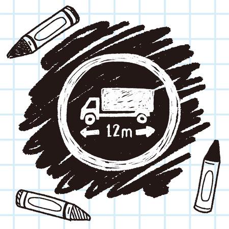 long: truck long limit doodle Illustration